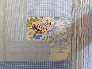 Minblog blå pude detail