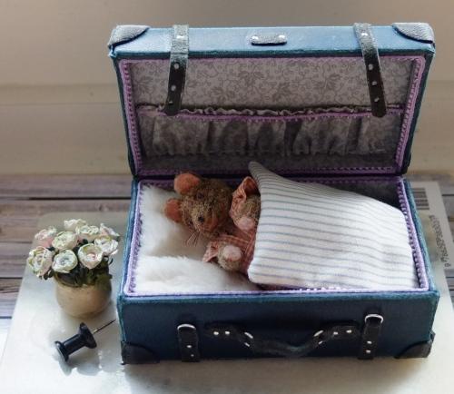 Lille mus i sin kuffert